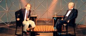 Entrevistando a Julio Caro Baroja en la ETB-2.