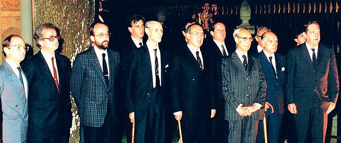 Con los supervivientes del primer Gobierno Vasco (1936). Astigarrabía, Leizaola y Nardiz