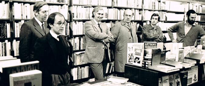 Presentando el libro de Antton Pérez de Calleja, con García Egocheaga, Madariaga, Jauregui y Olaverri.