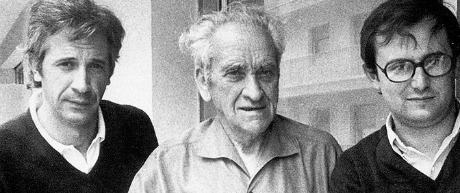 Con Manuel de Irujo y mi amigo Jon Escobosa. 1977. San Juan de Luz.