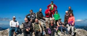 Con nuestros amigos de Zurbano en el monte