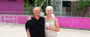 Con Sarah en la inauguración de los Juegos Olímpicos de Londres 2012